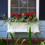 Mayne 3 ft Fairfield Window Planter Box - White with Wall Mount Brackets