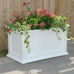 "Mayne Fairfield 20"" x 36"" Patio Planter - White"