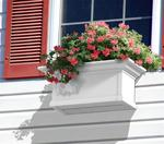 Mayne 2 ft Yorkshire Window Planter Box - White with Wall Mount Brackets
