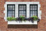 Mayne 6 ft Yorkshire Window Planter Box - White with Wall Mount Brackets