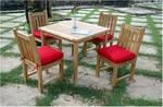 Teak Wood Bahama Square Table Set