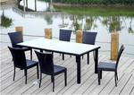 All-Weather Rattan Sheraton Dining Set Table