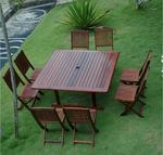 Monte Cristo Outdoor Wood Dining Set III