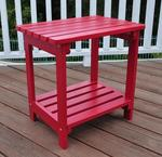 Cedar Wood Outdoor Rectangular Side Table