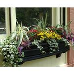 Mayne Nantucket 5 ft Window Box - Black with Wall Mount Brackets