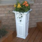 Mayne Nantucket Tall Planter - White