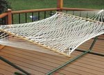 Single Cotton Two-Point Rope Hammock