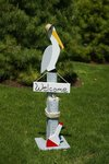 Amish Welcome Pelican Outdoor Nautical Pier Post