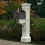 Mayne Liberty Polyethylene Mailbox Post - White