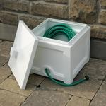 Mayne Fairfield Garden Hose Bin - White