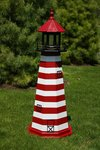 Wooden West Quoddy Head Nautical Lighthouse