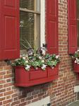 Mayne Nantucket 3 ft Window Box - Red with Wall Mount Brackets