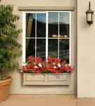 Mayne Nantucket 3 ft Window Box - Clay with Decorative Brackets