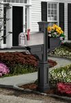 Mayne Signature Plus Polyethylene Mailbox Post - Black