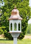 Poly Lumber Bird Feeder Small with Copper Roof