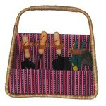 Picnic and Beyond Tuscan Seagrass Basket Gardener