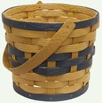 Hand Woven Recycled Plastic Basket with One Handle and Sleeve