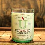 Recycled Wine Bottle Candle with Soy Wax and Applewood Scent