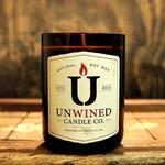 Recycled Wine Bottle Soy Candles Unwined Candles - Eastern Amber