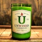 Recycled Wine Bottle Candle - Peppermint Bark