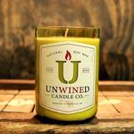 Recycled Wine Bottle Soy Candles Unwined Candles Grapefruit