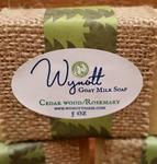 All Natural Goat Milk Soap Cedar Wood and Rosemary