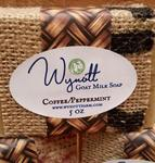 Handmade Goats Milk Soap Coffee and Peppermint