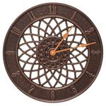 "Spiral 14"" Indoor Outdoor Wall Clock"