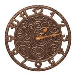 "Flourish 14"" Indoor Outdoor Wall Clock"