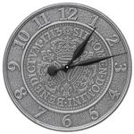 "Three Crowns In Coin 16"" Indoor Outdoor Wall Clock"