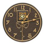 "Amber Dard Hunter Rose 12"" Indoor Outdoor Wall Clock"