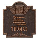 Emerson Monogram Plaque