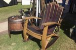 7-Stave Whiskey Barrel Adirondack Rocker