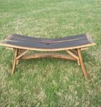 Uppurposed Whiskey Barrel Stave Bench