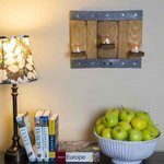 Repurposed Wine Barrel 3 Votive Candle Wall Scone
