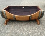 Large Whiskey Barrel Pet Bed