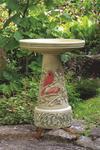 Eco Friendly Summer Cardinal Bird Bath Set