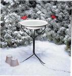 """Eco Friendly 20"""" Heated Birdbath with Metal Stand"""