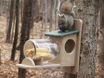 Eco Friendly Recycled Squirrel Jar Feeder