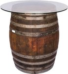 Handcrafted Wine Barrel Bar Table