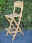 Teak Altavista Folding Bar Chair