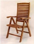 Teak Carina 5-Position Highback Reclining Chair