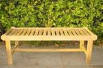 "Teak Cambridge 48"" Backless Bench"