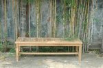 Teak Casablanca 3-Seater Backless Bench