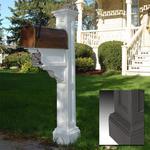 Mayne Charleston Plus Polyethylene Mailbox Post - White
