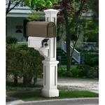 Mayne Rockport Polyethylene Single Mailbox Post - White