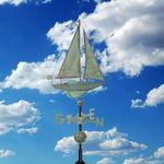 Verdigris Copper Sailboat Weathervane