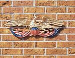 "Color 24"" Patriotic Wall Eagle"