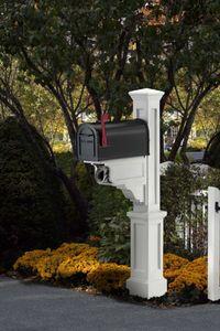 Mayne Dover Polyethylene Mailbox Post - White