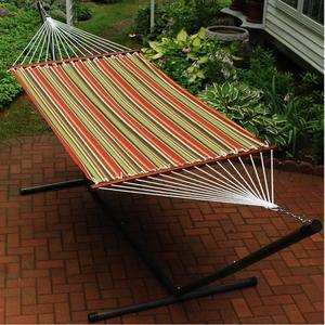 Super Single Fabric Hammock and Stand Combination